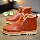 Men Thicken Zip High Top Casual Flat Shoes Winter Snow Boots Warm Ankle Boots