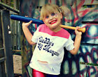 Daddy's Lil Monster Kid's T Shirt Harley Quinn Suicide Squad Cosplay Christmas