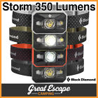 Black Diamond STORM Headlamp. 350 Lumens. IP67 Waterproof Headlight