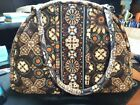 Vera Bratley Purse  brown flowers tan and blue with some orange