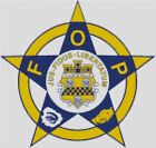Cross stitch chart, Pattern, Fraternal Order Police, Officer, Dept, Justice. Cop