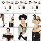 1920s 20s Flapper Accessory Wig Boa Necklace Tights Cigarette Holder Fancy Dress