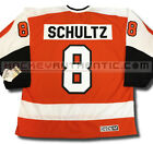 DAVE SCHULTZ PHILADELPHIA FLYERS CCM VINTAGE AWAY JERSEY ORANGE NHL HOCKEY