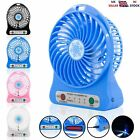 Portable USB Rechargeable High Power 3-Speed Desktop Fan W/Led