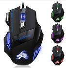 7 Buttons 5500 DPI Wired Gaming Mouse LED Optical Game Mice For PC Laptop Mäuse