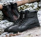 NEW Mens Stylish High Top Warm Winter Boots Furry Lined Men Casual Board Shoes