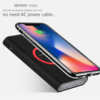 10000mAh QI Wireless Fast Charging Power Bank Charger For iPhone 8 X Samsung S8