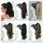 Hand woven ponytail Claw Clip Ponytail Clip On extensions 20inch Wigs for Women
