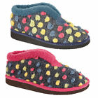 WOMENS LADIES  FUR LINED SLIPPER BOOTIE WITH FLEECE COLLAR HARD SOLE LS948 NEW