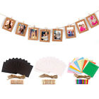 10pcs Paper Photo DIY Wall Picture Hanging Frame Album Rope Clip Art Home Decor
