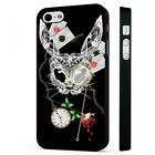Alice In Wonderland Dark Art White Rabbit BLACK PHONE CASE COVER fits iPHONE