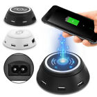 20W 110V-220V 6 USB Ports Qi Wireless Charger For iPhone X/ 8/ 8P Galaxy S8/S8+