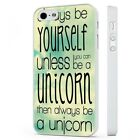 Always Be A Unicorn Funny Saying Quote WHITE PHONE CASE COVER fits iPHONE
