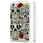 Candy Skull Sugar Day Of The Dead WHITE PHONE CASE COVER fits iPHONE