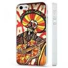 Candy Skull Sugar Day Of The Dead Colourful WHITE PHONE CASE COVER fits iPHONE