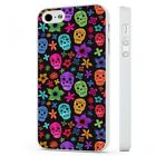 Candy Sugar Skulls Colourful WHITE PHONE CASE COVER fits iPHONE