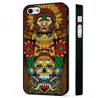 Totum Pole Tribal Art Indian Native American BLACK PHONE CASE COVER fits iPHONE