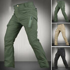 New Mens Waterproof Hiking Climbing Trousers Tactical Nylon Cargo Pants QuickDry