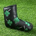 Outdoor Travelling Golf Putter Head Cover Four Leaf Clover Headcover White/Black