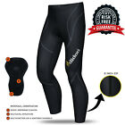 New Men's Thermal Cycling Trousers Padded Long Pants zipper Leggings COLD WEAR