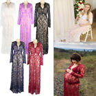 Women Pregnant Lace Maxi Dress Maternity long Gown Photography Photo Shoot M-XXL
