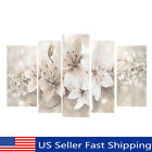 5Pcs Framed Abstract Flower Canvas Print Art Painting Wall Picture Home Decor