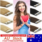 Semi-Permanent Seamless Hair Extensions Tape in Weft Remy Human Hair 8A AU Stock