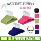 NEW! Premium Velvet 400-Pack Heavy Duty Hangers Non Slip Dress Clothes Suit Coat