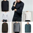 ALLSAINTS TONIC LONG SLEEVE CREW T-SHIRT Black, Grey,Navy,Brown,Blue,Chalk White image