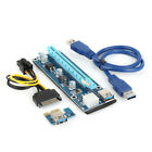 USB3.0 1-16x PCI-E Express Adapter Power Cable Extender Riser Card lot W1