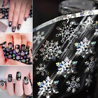 200cm Holographic Snowflake Nail Foil Decal Laser Glitter Sticker Christmas Xmas