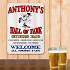 Hall of Fame Sports Bar Personalized Wall Sign Bar Man Cave Gift Dad Choice