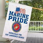Personalized Military Pride House Flag Army Navy Marines Air Force Double Sided