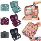 cosmetics travel bag - US Women Makeup Cosmetic Bag Case Pouch Toiletry Wash Travel Organizer Camping
