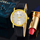 Luxury Women's Watch Fashion | Quartz Gold Stainless Steel Case | Leather Band