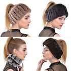New Real Rabbit Fur Ring Cowl Scarf Scarves Headband Neck Warmer Gift