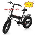 20'' LED Fat Tire Electric Mountain Bike 48V/36V Bycicle SAMSUNG BATTERY Xams