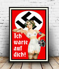 I've been waiting for you  : Old propaganda artwork  Poster reproduction