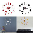 Modern Art DIY Large Wall Clock 3D Sticker Design Home Office Room Decor CH