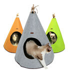Small Dog Doggy Puppy Indian Tipi Washable Kennel Pet Tent Cat Bed House Nest