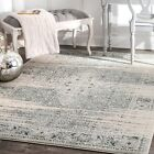 nuLOOM NEW Traditional Vintage Abstract Area Rug in Blue, Grey, Ivory