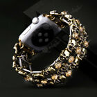 Crystal Shining Brilliant Diamond Retro Skull Wrist Band Strap For Apple Watch image
