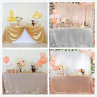 "50""x80"" Sequin Tablecloth Rectanglar Sequin Overlay Wedding Sequin Fabric Tables"