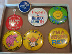 VTG MIXED LOT REPUBLICAN PRESIDENTIAL CAMPAIGN BUTTONS PIN BACKS 1950'S-1980'S