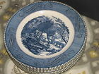 SIX VTG  BLUE ROYAL USA {THE OLD GRIST MILL} CURRIER&IVES DINNER PLATES A+ MINT