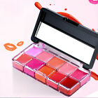 10Color Long Lasting Lipstick Set Cosmetic Primer Clear Mois