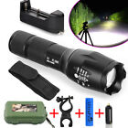 5Modes 15000LM XML T6 Zoom Focus LED Flashlight Torch18650 +Battery+holder+case