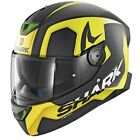 Shark SKWAL 2 TRION KYY Matt Black and Yellow With LED LIGHTS