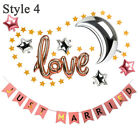 Love Balloons Just Married Kit Wedding Decorations Birthday Party Valentines Day