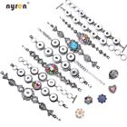 Metal Snap Charms Bracelet Multi Styles Fit 12/18mm Snap Button Snap Jewelry image
